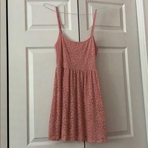 Pink Floral Lace Skater Dress (Garage, S)